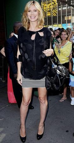Heidi Klum looking fashionable with her #bump Celebrity moms - Pregnant - Estee Stanley