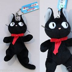 Kiki's Delivery Service JiJi Key Chain Mascot Plush Doll Cat Studio Ghibli Japan