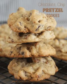 Chocolate Chip Pretzel Cookies, the prefect alternative for those with Nut allergies. Oh and the salty from the pretzel gives these cookies ...