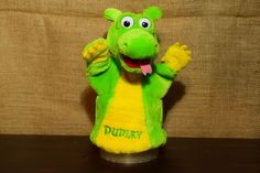 VTG Plush Hand Puppet - DUDLEY DRAGON TALES A Little Happiness for Little People