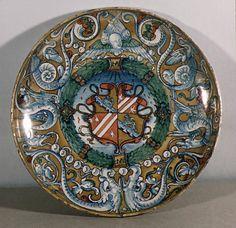 Tazza  Lustered by Maestro Giorgio  Date: 1524 Culture: Italian (Gubbio) Medium: Maiolica (tin-enameled earthenware