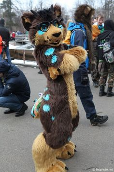 Me at St Patrick's Day 2016, Moscow <3   Fursuit&character © me