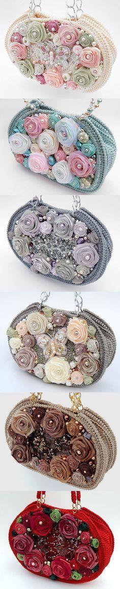 Delightful purses with hand embroidery by Irina Shoubina