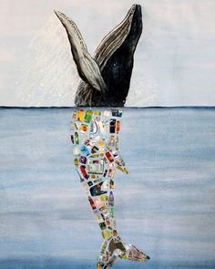 """""""Plastic Whale"""", by artivist Dafne Murillo. She is one of thousands of teens leading the way tackling plastic pollution! Ocean Pollution, Environmental Pollution, Plastic Pollution, Art Environnemental, Save Our Oceans, Trash Art, Plastic Art, Shrink Plastic, Plastic Beads"""