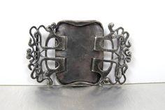Art Nouveau, Liberty & Co. Waist Sash Belt Buckle, British Arts Crafts Era, Oliver Baker W.H. Haseler, Antique 1800s British Sterling Buckle