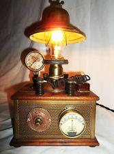 VICTORIAN H.G.WELLS EXPERIMENTAL LABORATORY SCIENTIFIC STEAMPUNK TABLE LAMP