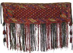 antik Orient Turkmen Jemud Nomaden Kelim Zelttasche Torba  Nord Afghanistan Nr-3