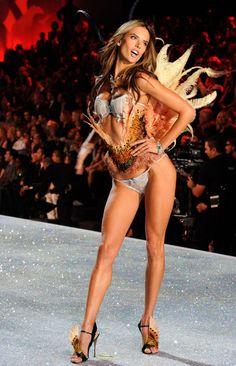 Alessandra Ambrosio models for Victoria's Secret