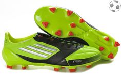 uk availability e92c0 bc3ba Chaussure de foot adidas f50 adizero miCoach Cuir FG Vert Noir FT9202 Cheap  Football Boots,