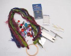 How to Make a Colorful Tassel Accessory: Supply List Ribbon Jewelry, Tassel Jewelry, Wire Jewelry, Beaded Jewelry, Handmade Jewelry, Diy Jewellery, Tassel Necklace, Jewlery, Necklaces