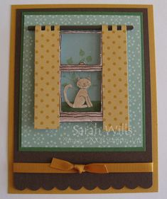 Window Dressing Cat Card by willsygirl - Cards and Paper Crafts at Splitcoaststampers