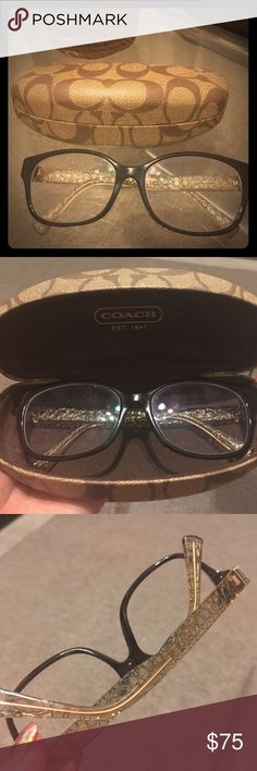 642f4ec5493 Glasses frame Coach dark tortoise   crystal brown A bit worn Should put new  lenses with your own prescription. Original box in good condition Coach ...