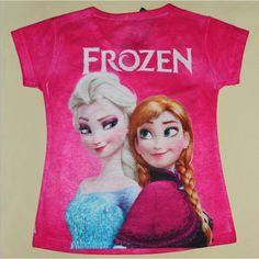 camisa infantil, transado, roupas transadas, roupa infantil, CAMISETA FROZEN ANNA E ELSA