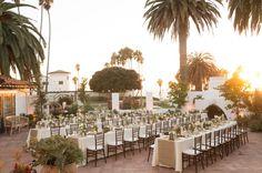 reception, San Clemente wedding venue, outside wedding, palm trees, beautiful wedding setting