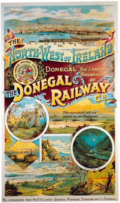 Donegal Railways Poster, promoted by Henry Forbes.
