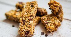 Recette de Barres diététiques aux flocons d'avoine et raisins secs. Facile et rapide à réaliser, goûteuse et diététique.