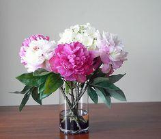fake flower arrangements for home | silk flower arrangements