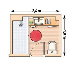 Trendy bathroom layout plans showers Trendy bathroom layout plans showers closet Fantastic Pic Small Bathroom layout Ideas Little bathrooms tend to be difficult design. On one hand, simply because they're small in size, a (notitle) - ARQ Small Bathroom Plans, Bathroom Layout Plans, Small Bathroom Layout, Bathroom Floor Plans, Bathroom Ideas, Bathroom Organization, Bathroom Cleaning, Bathroom Storage, Bath Ideas