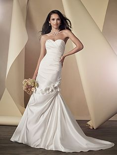 Like this one! Elegant, less plain than the one I liked at David's but still affordable!   Alfred Angelo Bridal Style 2444 from Alfred Angelo
