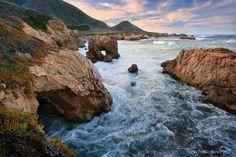 Sea Arch in Big Sur, California Central Coast
