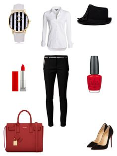 """"""":D"""" by inaey ❤ liked on Polyvore featuring NIC+ZOE, Jason Wu, Armani Collezioni, Christian Louboutin, Maybelline, OPI and Yves Saint Laurent"""