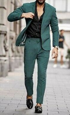 Giorgenti New York Blazer Outfits Men, Mens Fashion Blazer, Stylish Mens Outfits, Stylish Clothes For Men, Shirt Outfit, Formal Men Outfit, Mens Formal Shirts, Formal Suits For Men, Mens Casual Suits