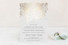 """Sketched Bouquet"" - Floral & Botanical, Formal Foil-pressed Wedding Invitations in Petal by Phrosne Ras."