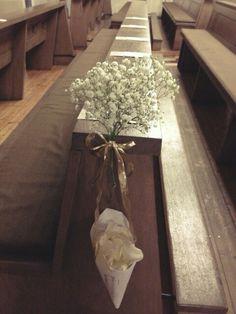 Church wedding devoration, flowers