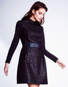 Lost Ink Long Sleeve Skater Dress