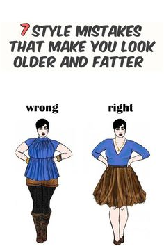 7 style mistakes that make you look older and fatter - nbeautytips.com