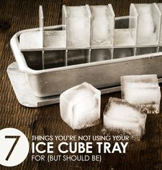 These seven creative kitchen ideas will transform the way you think about your ice cube tray!
