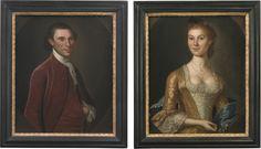 John Hesselius, William Knox and Susanna Stuart Fitzhugh Knox (Virginians), c. 1771, Sotheby's