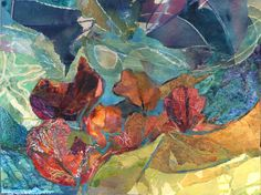 'Autumn Gales' Rosie Britton, Mixed media collage
