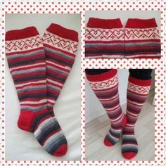 Knitting Socks, Knitting Ideas, Knee High Socks, Fashion, Knit Socks, Moda, Fashion Styles, Fashion Illustrations, Knee Socks