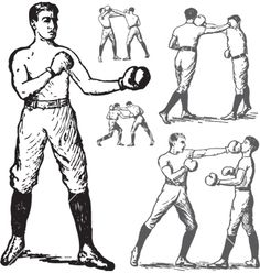 vintage-boxing-poses-vector-203267.jpg (380×400)