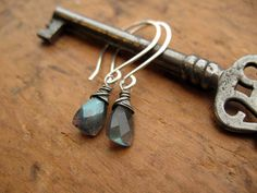 Labradorite Triangle Cut Gemstone & Sterling by brendamcgowan, $32.00