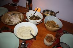 Guliash Girl has a Friendsgiving celebration with new friends and shares the recipes the meal was based on. Chicken Potatoes, Roast Chicken, Celebration, Pie, Pumpkin, Meals, Friends, Healthy, Recipes