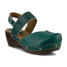 f5c827a2c6009e Spring Step Women s Amadi Teal Clog Mule 41 (US Women s 9... Leather  SandalsShoes ...