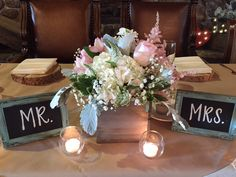 Mr. & Mrs.  Your table awaits ...