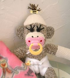 baby sock monkey