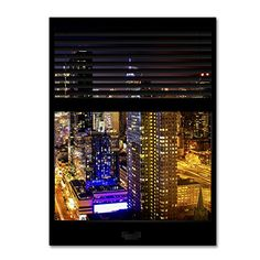 "Trademark Fine Art Window View Manhattan Night 6 by Philippe Hugonnard Wall Decor, 24 x 32"" Trademark Fine Art http://www.amazon.com/dp/B011N60B3A/ref=cm_sw_r_pi_dp_UB0Uvb1VDGFWG"