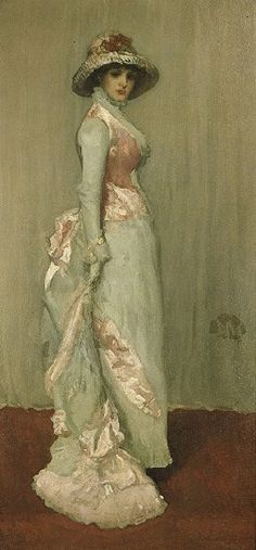 J. M. Whistler's Harmony in Pink and Gray: Portrait of Lady Meux (Frick Collection, 1881-1882)