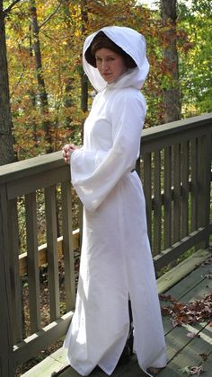 Princess leia costume made from white sheet