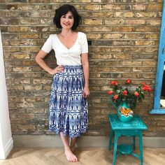 Lisa's Greek holiday inspired Lizzie Skirt Skirt Patterns Sewing, Skirt Sewing, Lace Skirt, Midi Skirt, Sew Over It, Harem Pants, Lisa, Photo And Video, Skirts