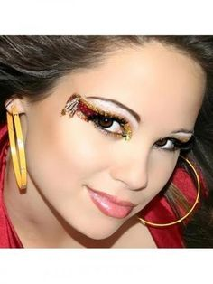 Cherokee Eye Kit With Rhinestone Lashes. Kit includes: Upper and Lower Exotic Eyes, Pasty Glitter Goo and Easy To Follow Detailed Step-By-Step Instructions. Exotic Eyes is must have eye make up! Sparkle eyes are perfect for the club, costumes, show make up dancers and professional models. $9.99