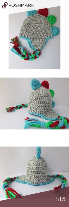 Dinosaur hat Can be made in different sizes  Smoke free household   100% acrylic yarn (washing instructions are included with your purchase)  Made within 3/4 days   Any questions feel free to leave a comment down below ---- HAVE A GREAT DAY! Accessories Hats