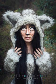 AMAZING. #wolf #makeup #fur #ears #costume #fantasy
