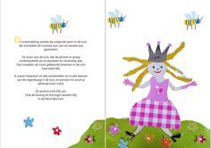 Blije prinses in de tuin
