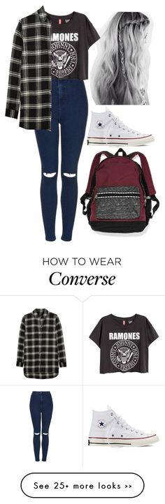 Emma chavez on Polyvore featuring Topshop, Converse, Madewell and Victoria's Secret