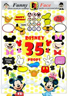 Instant Download 35 Pieces Disney miskey mouse by FunnyFaceProps